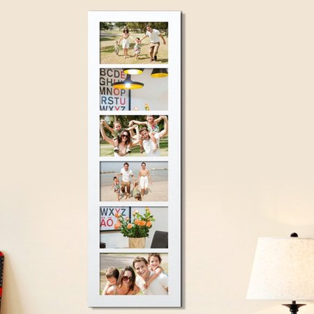 Homebeez 6 Slot Wood Collage Picture Frame