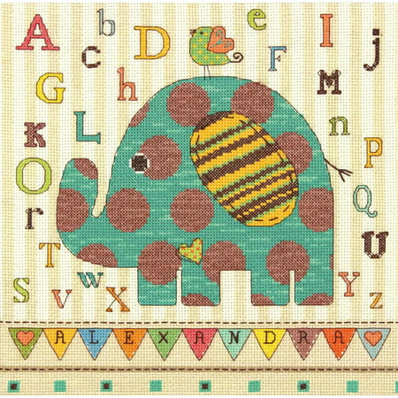 Stitched Elephant (Dimensions Counted Cross-Stitch Kit, Baby Elephant)