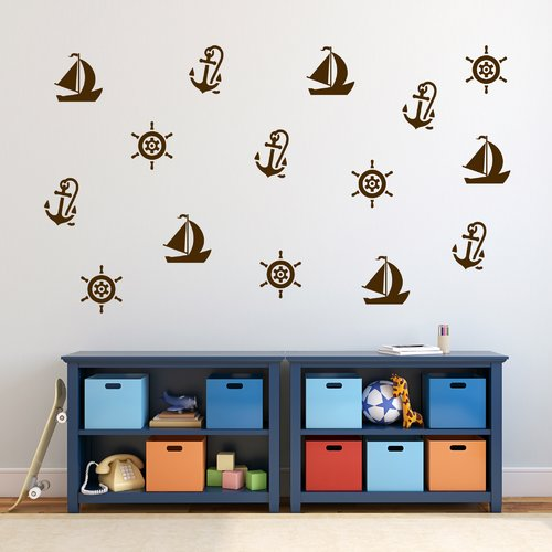 Zoomie Kids Nautical Wall Decal Set (Set of 3)