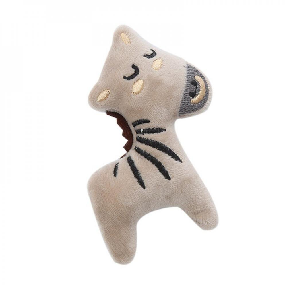 Pretty Comy Pet Molar Bite Animal Styling Cat Mint Plush Toys Self excited  Animals Double Sided Funny Interactive   Walmart.com
