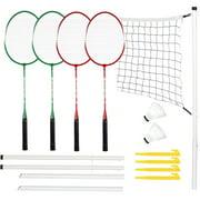 Outdoor Sport Badminton Set Net System Badminton Rackets Combination Game
