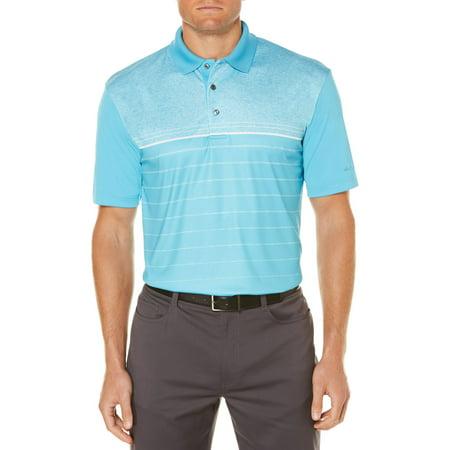 - Men's Performance Short Sleeve Heather Print Golf Polo