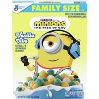 General Mills, Minions Breakfast Cereal, Vanilla Cake, with Marshmallows, Family Size, 16 oz