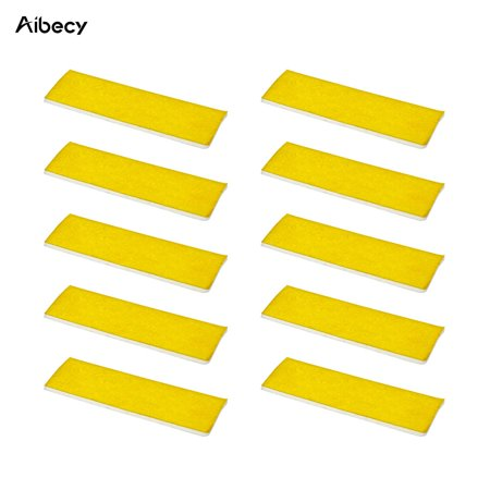 Aibecy 10PCS 2mm Thick Heating Block Cotton High Temperature Resistant for Makerbot Ultimaker 3D Printer Hotend Nozzle Heat Insulation (High Heat Insulation)