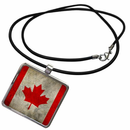 - 3dRose Vintage Canada Flag - Necklace with Pendant (ncl_236485_1)