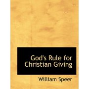 God's Rule for Christian Giving