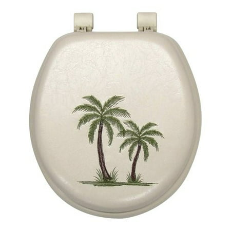 Vinyl Toilet Seat - Palm Tree Soft Toilet Seat