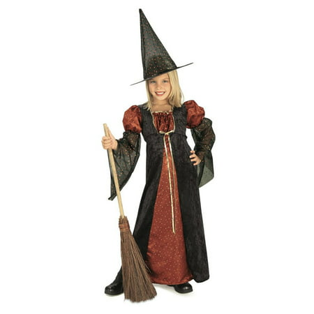 Halloween Glitter Witch Child Costume - Half Witch Halloween Makeup