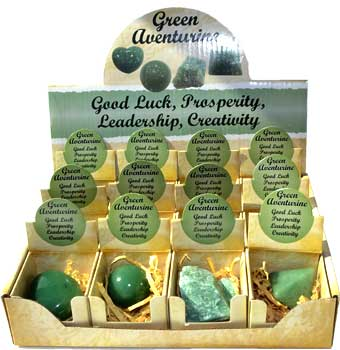 RBI Gemstone Aventurine Green gift box (set of 12) Magical Crystal Healing Enlightenment