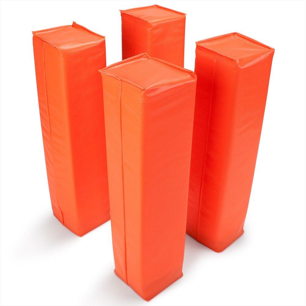 Crown Sporting Goods Anchorless Football Pylons, 4-pack, Orange