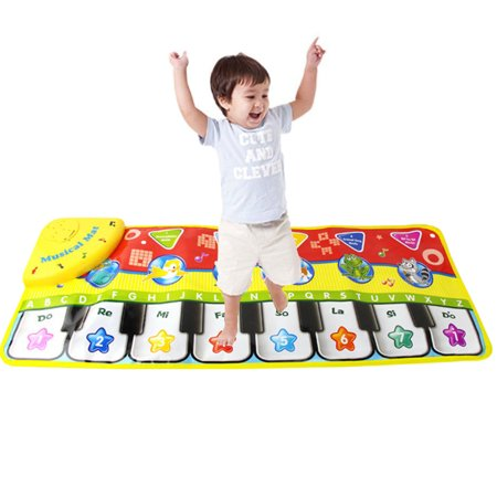 5 Mode Electronic Jump Dance Piano Keyboard Musical Touch Gyms & Play Mat Baby Kids Toy (Gigantic Keyboard Playmat)