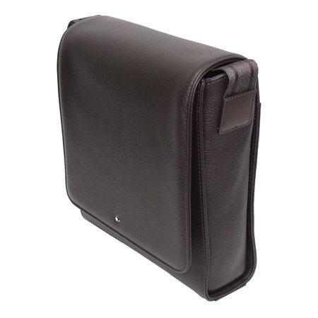 Montblanc Meisterst ck Soft Grain North South Brown Leather Bag 114456 -  Walmart.com b2ce72a1c5