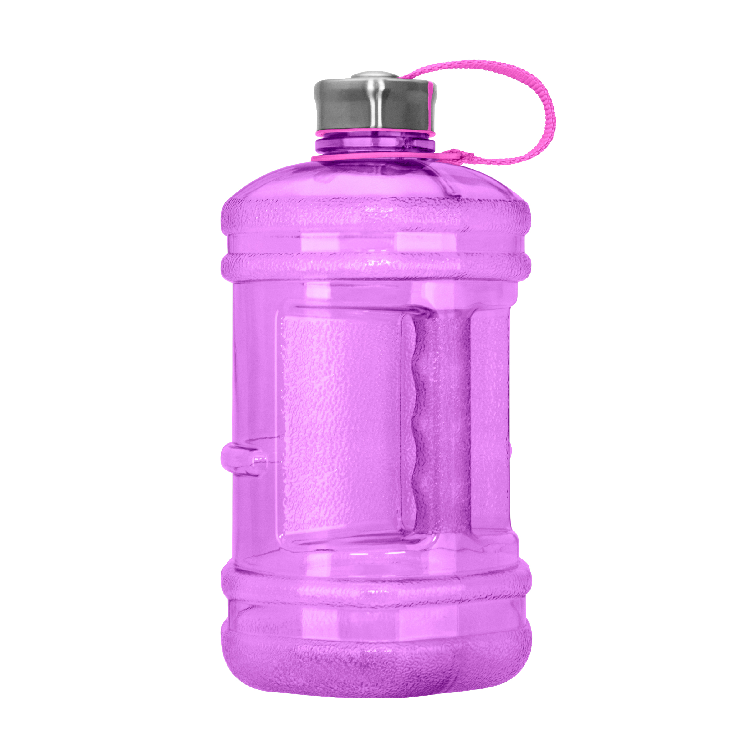 2.3 Liter (77 oz) BPA Free Hexagon Water Bottle w/48mm Steel Cap (Purple)