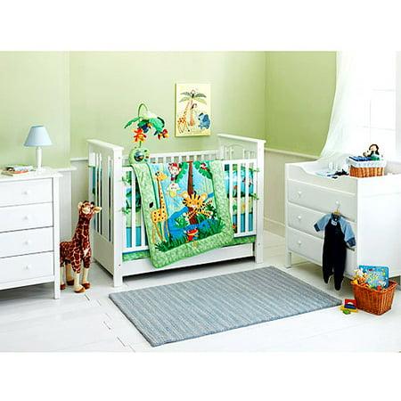 Fisher Price Rain Forest 4 Piece Crib Bedding Set