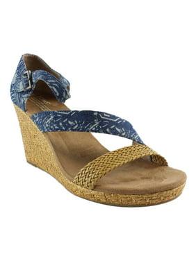 5e489ed30d7f4f Product Image TOMS Womens BlueBalikTextileWrapped Espadrille Sandals Size  8.5 New