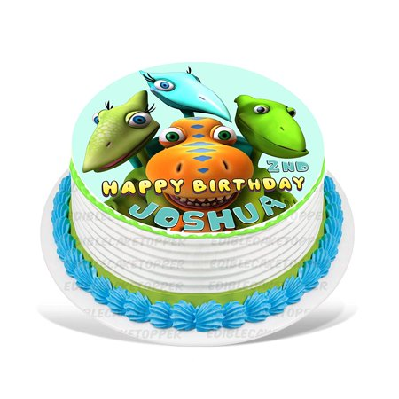 Cool Dinosaur Train Edible Cake Image Topper Personalized Picture 8 Funny Birthday Cards Online Alyptdamsfinfo