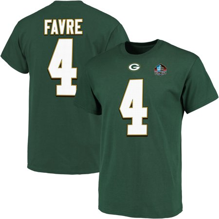 Brett Favre Green Bay Packers Majestic Hall of Fame Eligible Receiver III Name & Number T-Shirt - Green Brett Favre Green Bay Packers