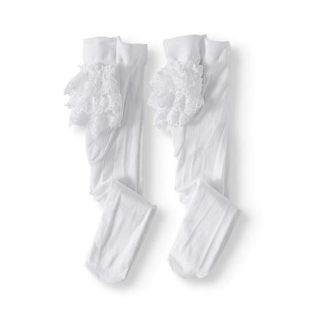 Jefferies Socks Lace Ruffle Rhumba Tights, 2-pack (Baby Girls) ()
