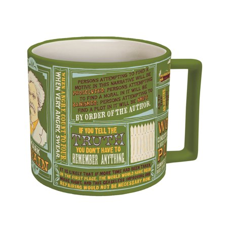 Mark Twain Coffee Mug - Twain's Most Famous Quotes and (Famous Quote Coffee Mug)