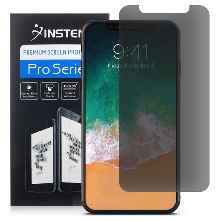 iPhone X Screen Protector Privacy by Insten Privacy Anti-Spy Screen Protector LCD Film Guard Shield for Apple iPhone X (Lcd Screen Protector Shield)
