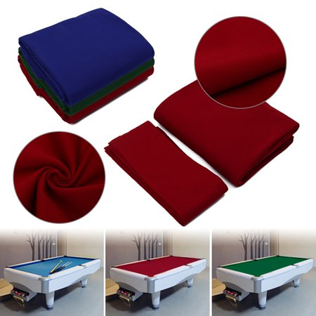 Meigar 7ft 8ft 9ft Worsted Billiard Pool Table Cloth Wool+Nylon Billiard Felt with Cushion Rail 340cm 360cm 380cm(Red,Blue,Green) Billiard Table Felt Cloth