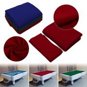 7ft 8ft 9ft Worsted Billiard Pool Table Cloth Billiard Felt with Cushion Rail for Snooker Table, Billiard Table (Red,Blue,Green)