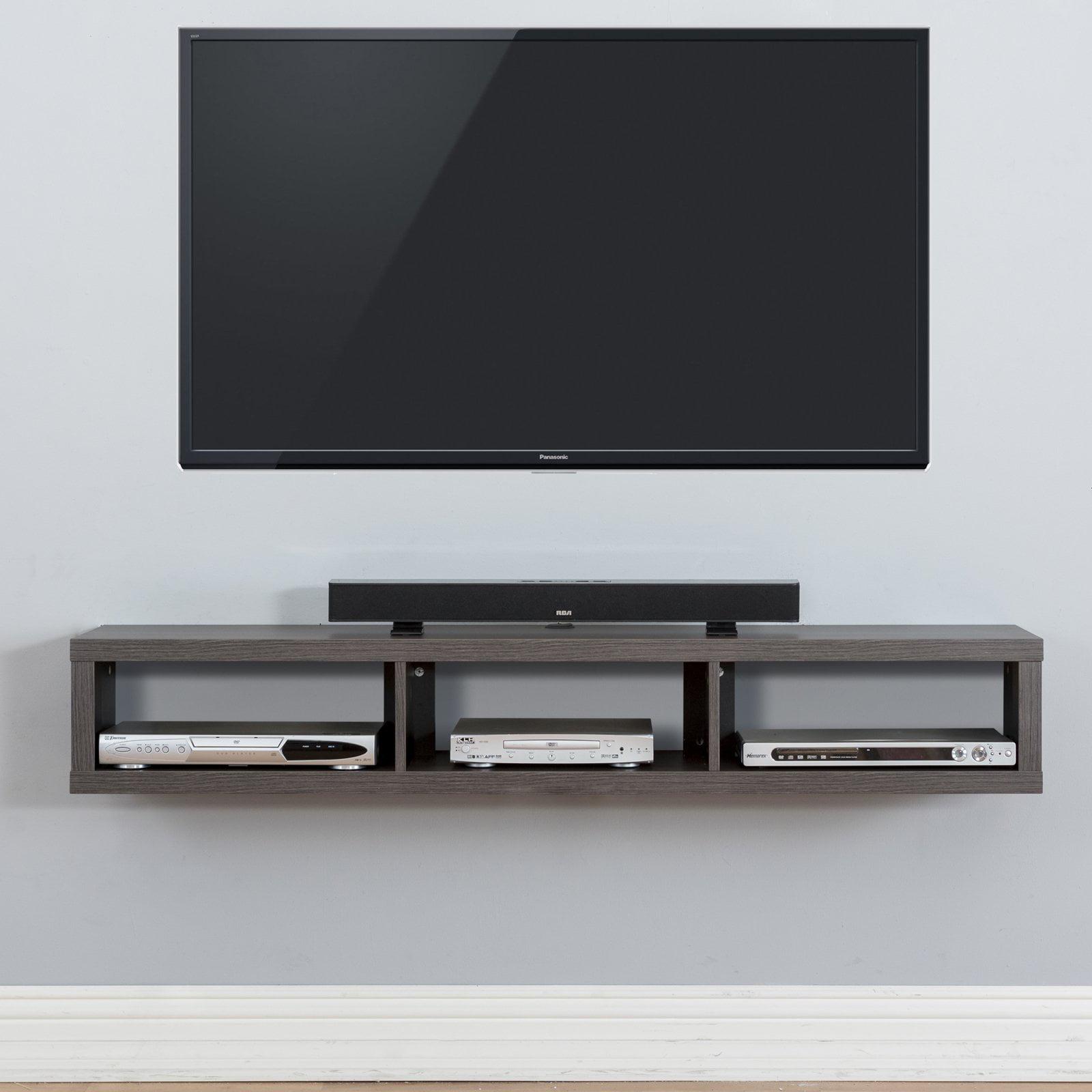 Martin Furniture Shallow Wall Mounted TV Shelf - Walmart.com