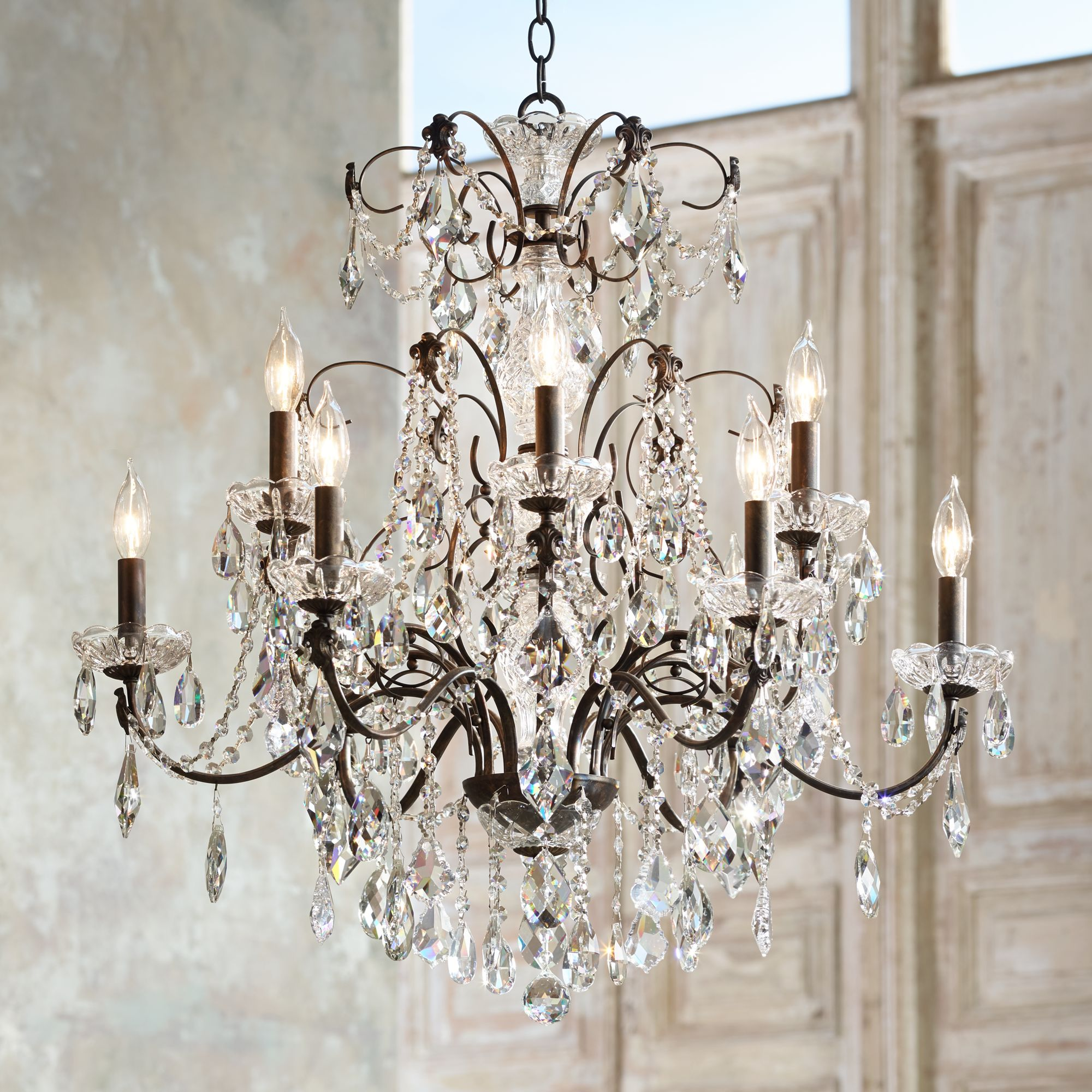 "Schonbek Century Collection 30"" Wide Crystal Chandelier by Schonbek"