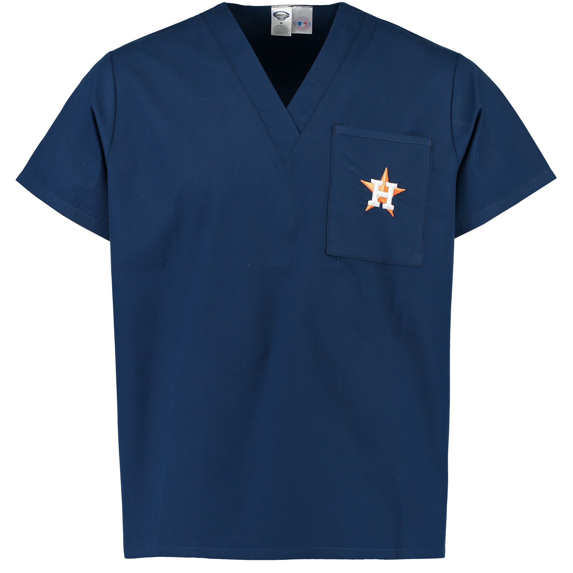 Houston Astros Concepts Sport Scrub Top with Pocket - Navy