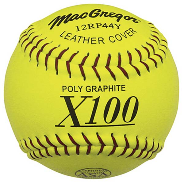 MacGregor 11'' .44 375 ASA Yellow Poly Softballs (1 Dozen) by MacGregor