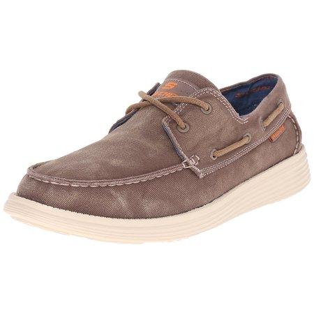 143dcd837313 Skechers - Skechers USA Men s Status Melec Boat Shoe