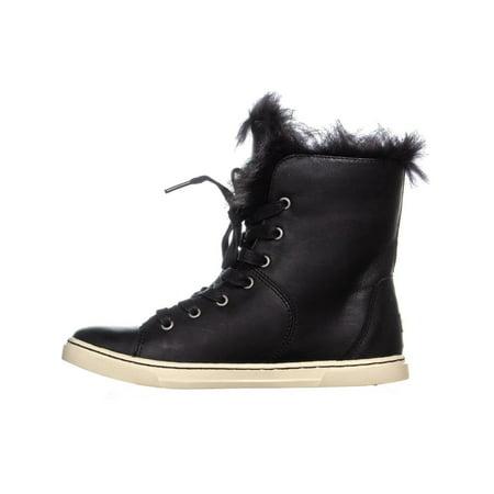 UGG Australia Croft Sheepskin Lace Up Fashion Sneakers, Black - image 5 of 6