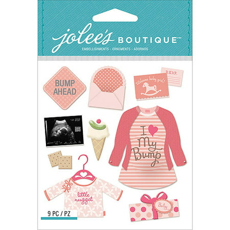 Jolee's Boutique Dimensional Stickers, Baby Girl Pregnancy