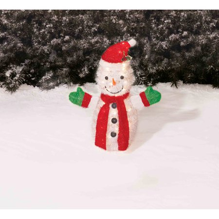 holiday time 28 tinsel snowman christmas yard decoration