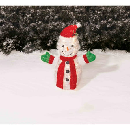 holiday time 28 tinsel snowman christmas yard decoration - Walmart Christmas Yard Decorations