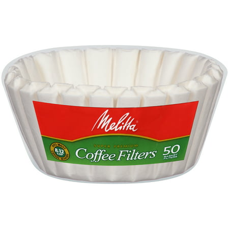 Melitta basket coffee filters, white (8 to12 cup), 50-count filters