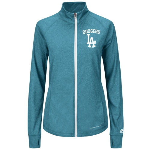 Los Angeles Dodgers Majestic Women's Count the Wins Therma Base Full-Zip Jacket Royal by MAJESTIC LSG