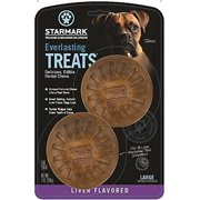StarMark Everlasting Treat Dog Toy, Large, Brown