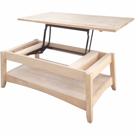 International Concepts Ot 4tcl Bombay Tall Coffee Table With Lift Top Ready To Finish