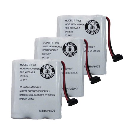 Replacement For Uniden BT-1006 Cordless Phone Battery (600mAh, 3.6V, NiCD) - 3 Pack ()