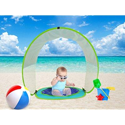 ... baby beach tent pop up sun shade pool uv protection shelter for infant  sc 1 st  Walmart & baby beach tent pop up sun shade pool uv protection shelter for ...