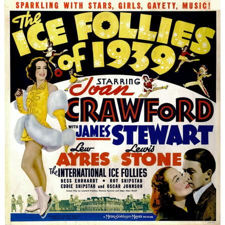 The Ice Follies Of 1939 Left Joan Crawford Bottom Right From Left Joan Crawford James Stewarton Jumbo Window Card 1939 Movie Poster - Jumbo Movie