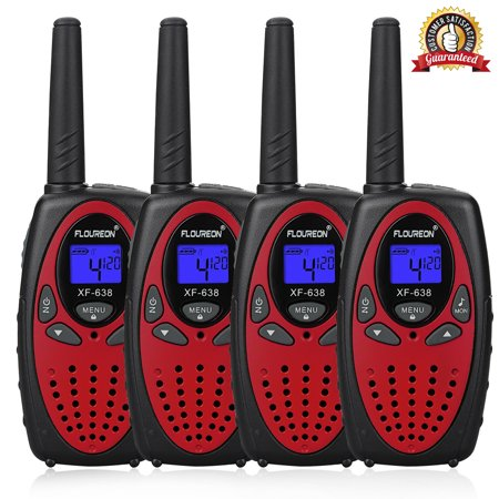 Kids Walkie Talkies, FLOUREON 22 Channel Two-Way Radio Best for Kids Long Range 3000M Handheld Outdoor Interphone/Portable Toy Radio Transceiver(4 Packs)