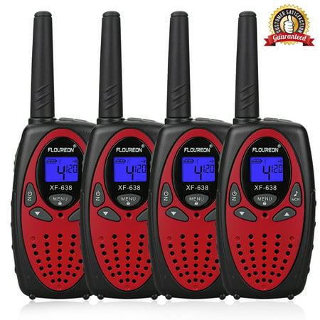 Kids Walkie Talkies, FLOUREON 22 Channel Two-Way Radio Best for Kids Long Range 3000M Handheld Outdoor Interphone/Portable Toy Radio Transceiver(4