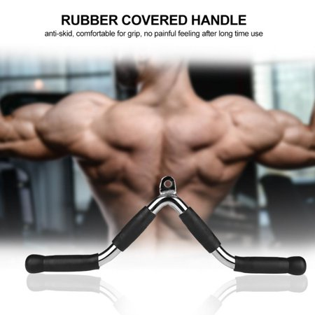Multi-purpose V-shaped Bar Handle Cable Exercise Attachment for Gym Fitness Workout, Cable Equipment Bar, Cable Exercise Bar (Fitness Equipment Attachments)