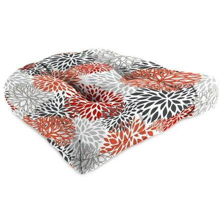 Jordan 9915PK1-4356D 18 x 18 x 4 in. Outdoor Wicker Chair Cushion in Blooms (Jordan Creek Stores)