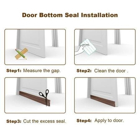 """2"""" W x 39"""" L Self-Adhesive Door Seal Strip Under Door Bottom for Interior Doors Seal Strip Insulation for Weatherproof, Soundproof White - image 3 of 7"""