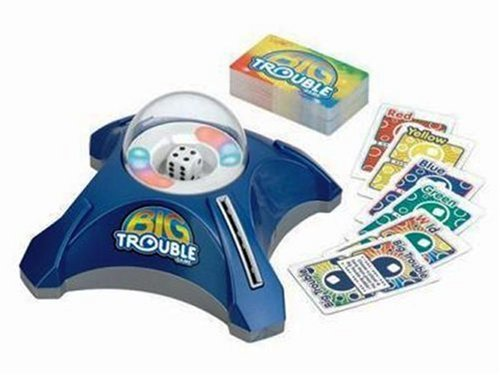 Milton Bradley Big Trouble Game Pop-O-Matic Action with Lights & SFX by Mattel