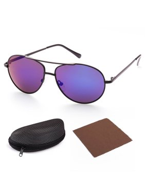 Aviator Sunglasses for Kids Girls Boys Children, Gold Frame, Pink 50mm Shatterproof Lens, UV400 Protection, Case Included