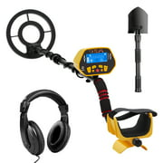 URCERI GC-1028 Metal Detector High Accuracy Waterproof 2 Modes Outdoor Gold Digger with Sensitive Search Coil LED Display for Beginners Professionals bounty hunter, Yellow